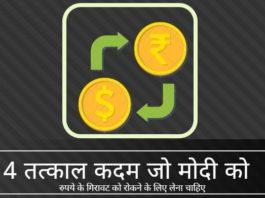 कदम जो मोदी सरकार रुपये की गिरावट रोकने के लिए आज उठा सकती है