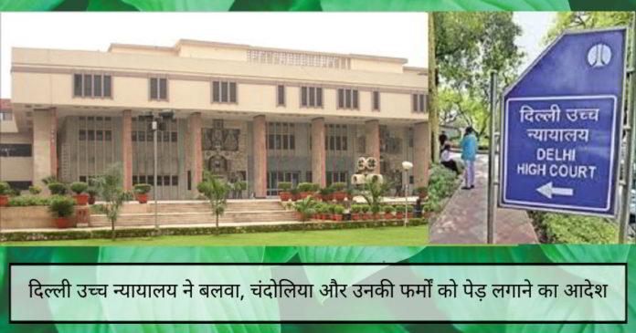 दिल्ली उच्च न्यायालय ने बलवा, चंदोलिया और उनकी फर्मों को मामले में देरी करने की कोशिश के लिए 16,300 पेड़ लगाने का आदेश दिया