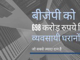 राजनीतिक दलों द्वारा चुनाव आयोग को दिये दस्तावेजों के आधार पर एडीआर द्वारा जारी किए गए आंकड़े दिखाते हैं कि बीजेपी को अधिकतम चंदा मिला!